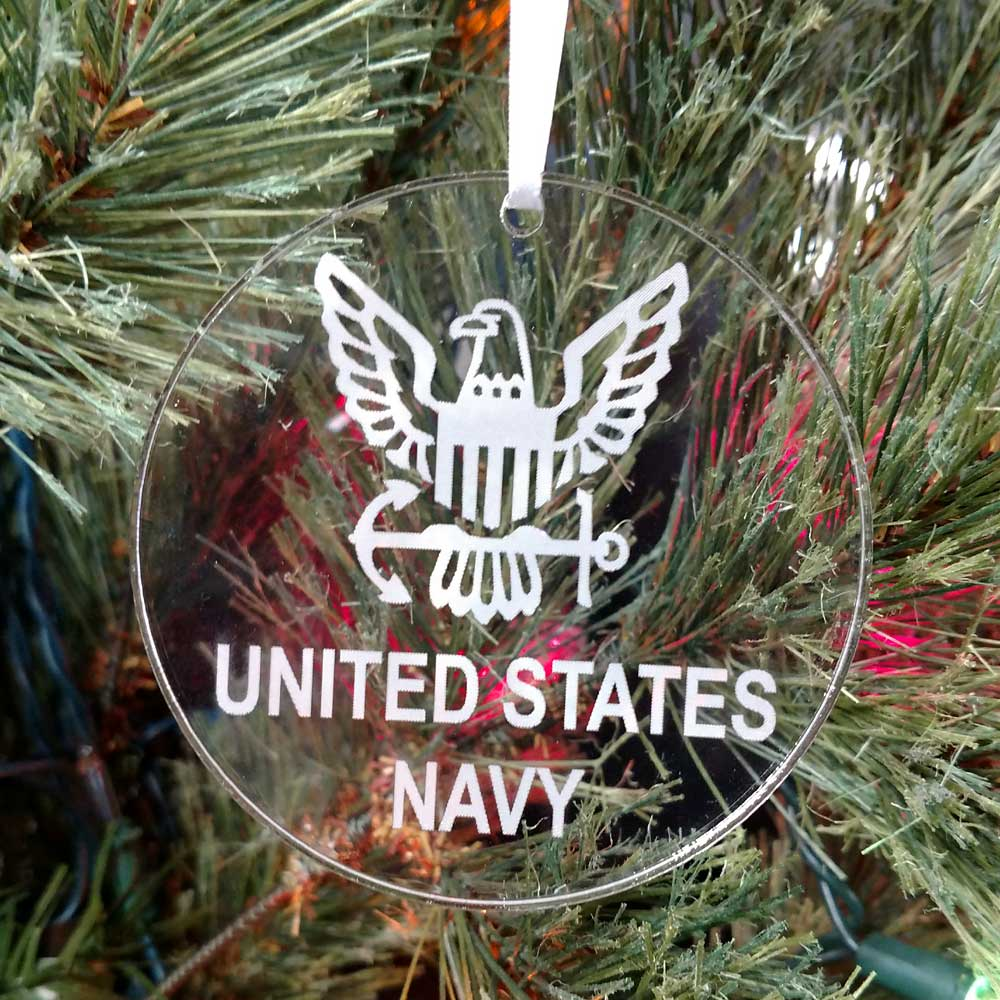 Personalized United States Navy Ornament