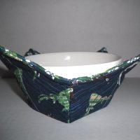 Navy Green Deer Microwave Bowl Holder Cozy Hot Pad