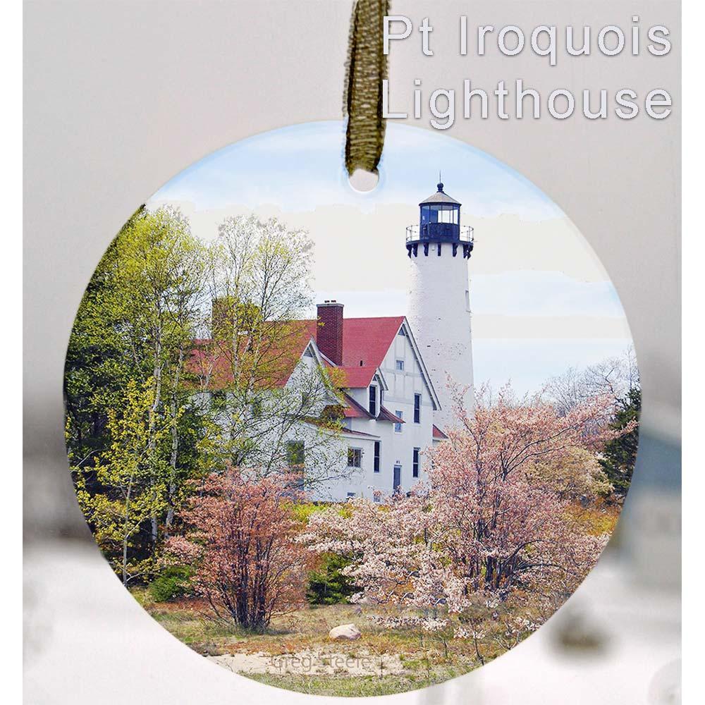 Glass Photo Suncatcher Ornament Pt Irquois Lighthouse