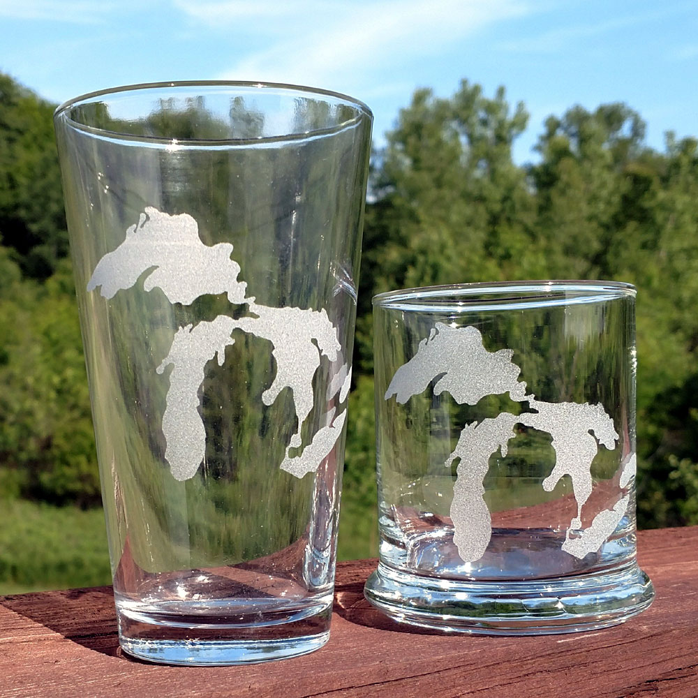 Michigan Great Lakes Glassware