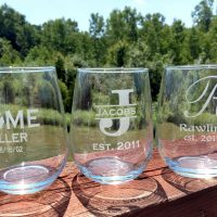 Personalized Stemless Glassware