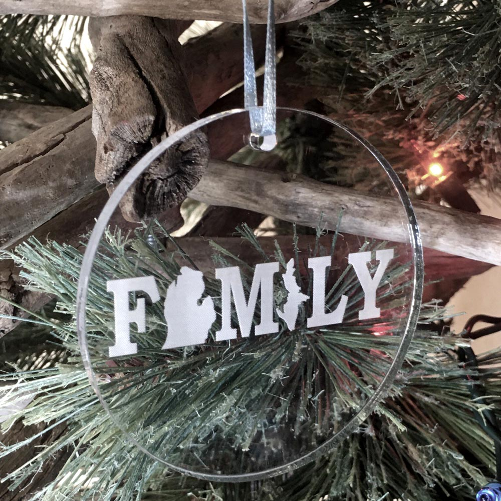 Personalized Michigan Family Ornament