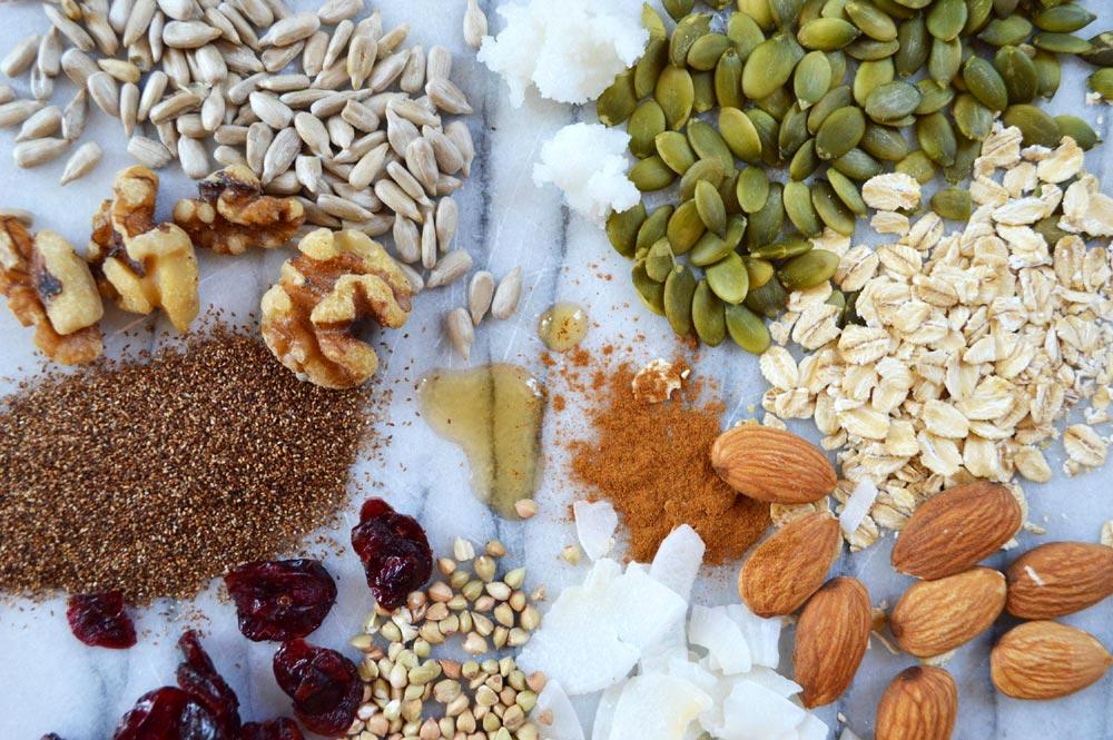Teffola Nutty Granola Ingredients