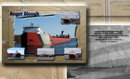 Nautical Postcard Set Roger Blough Ship