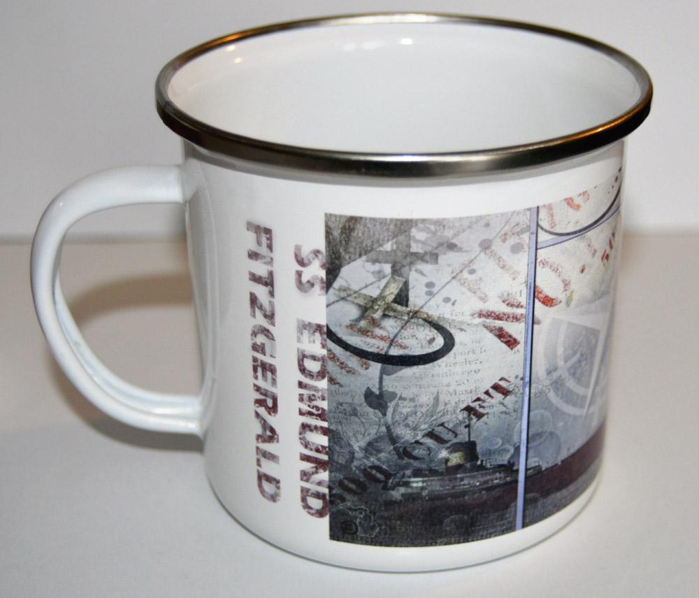 Photo Camp Mug Enameled Stainless Edmund Fitzgerald