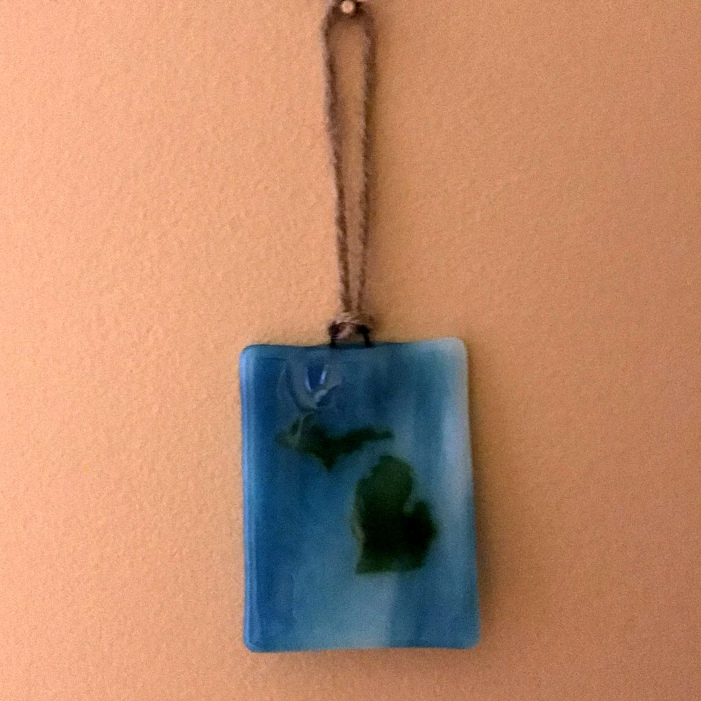 Michigan Ornament Suncatcher Green Blue