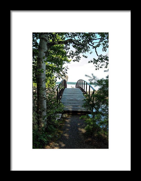 Rock River Foot Bridge Print