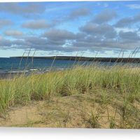 Cloudy Lake Superior Shoreline Canvas Print