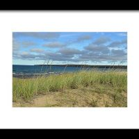 Cloudy Lake Superior Shoreline Print