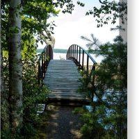 Rock River Foot Bridge Canvas Print