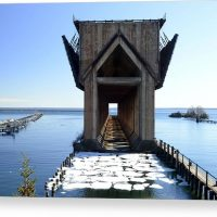 Marquette Ore Dock Cathedral Canvas Print