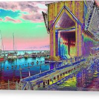 Morning Pink Marquette Ore Dock Canvas Print