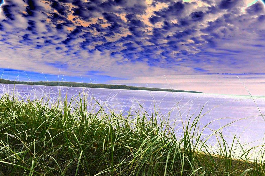 Rolling Blue Sky Over Lake Superior Art