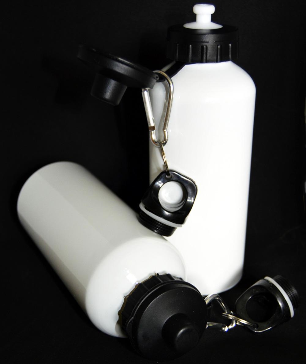 White Aluminum Water Bottles
