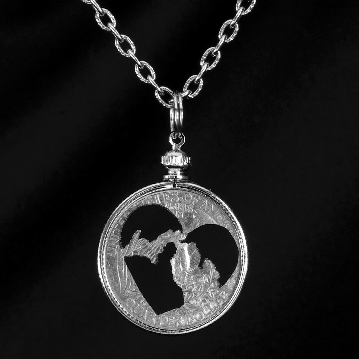 Michigan Heart Quarter Necklace