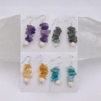 Gemstone Aromatherapy Earrings