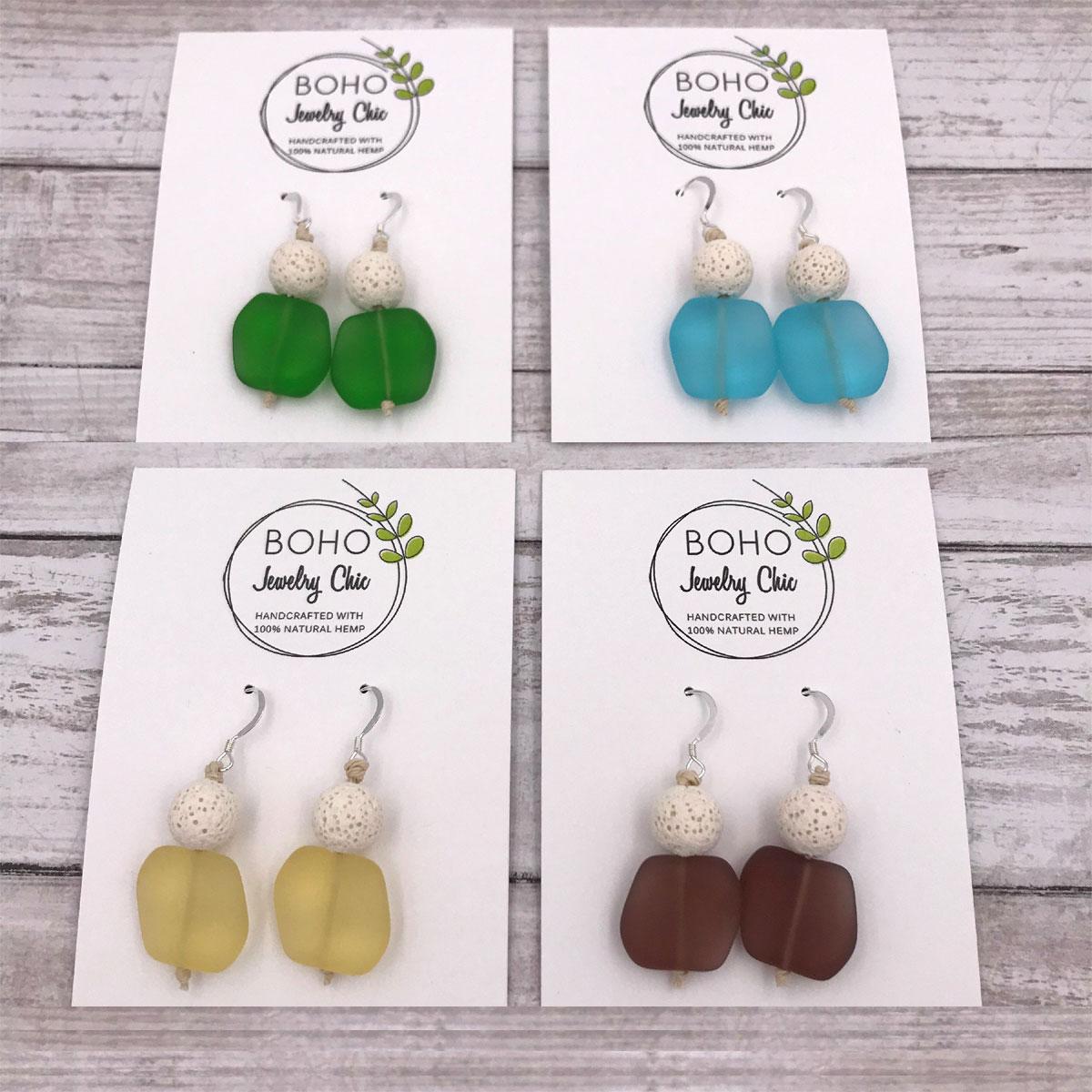 Sea Glass Earrings Aromatherapy Diffuser