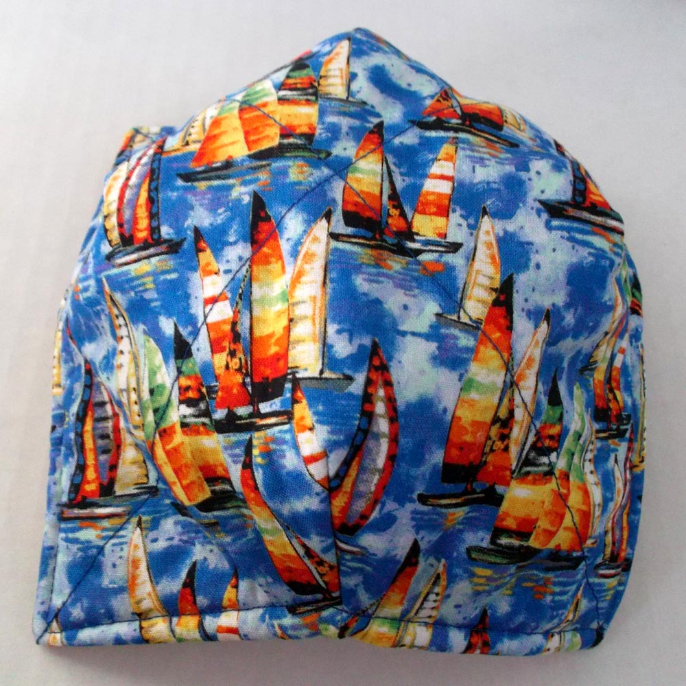Sailboats Microwave Bowl Cozy